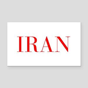 Iran-Bau red 400 Rectangle Car Magnet