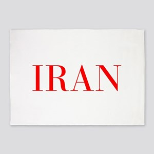 Iran-Bau red 400 5'x7'Area Rug