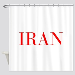 Iran-Bau red 400 Shower Curtain