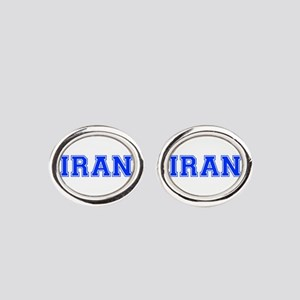 Iran-Var blue 400 Oval Cufflinks