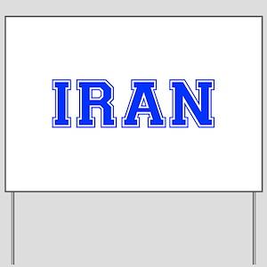Iran-Var blue 400 Yard Sign