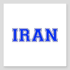 "Iran-Var blue 400 Square Car Magnet 3"" x 3"""