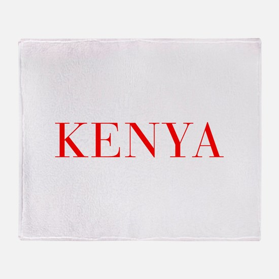 Kenya-Bau red 400 Throw Blanket