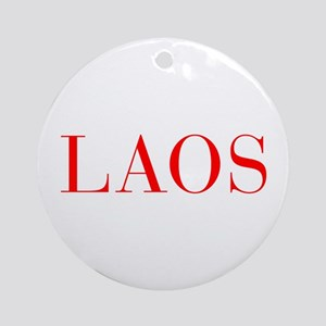 Laos-Bau red 400 Ornament (Round)