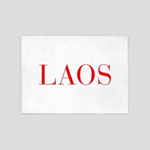 Laos-Bau red 400 5'x7'Area Rug
