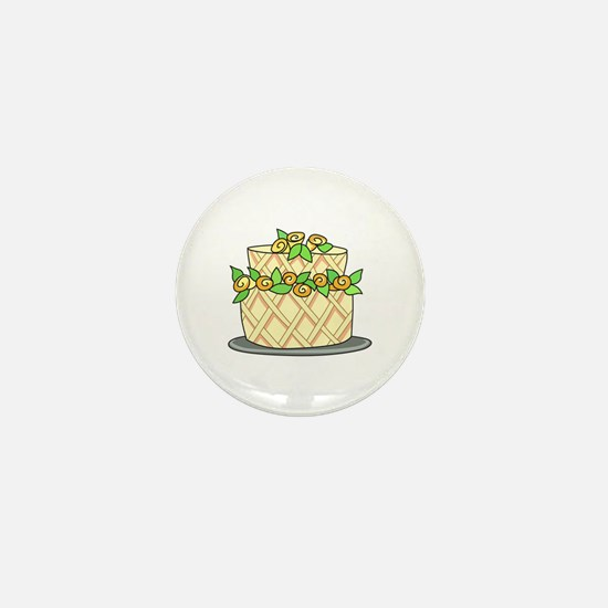 CAKE WITH FLOWERS Mini Button