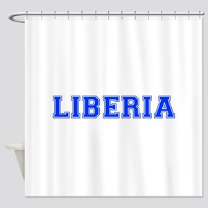 Liberia-Var blue 400 Shower Curtain
