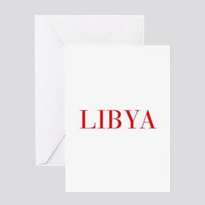 Libya-Bau red 400 Greeting Cards