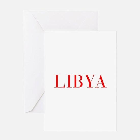 Libya-Bau red 400 Greeting Cards