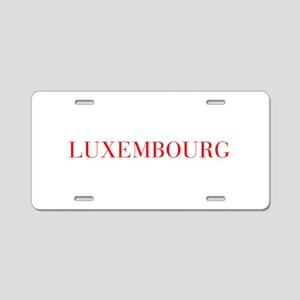 Luxembourg-Bau red 400 Aluminum License Plate
