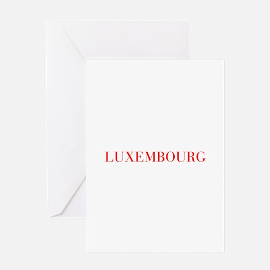 Luxembourg-Bau red 400 Greeting Cards