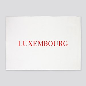 Luxembourg-Bau red 400 5'x7'Area Rug