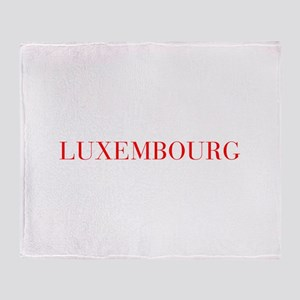Luxembourg-Bau red 400 Throw Blanket
