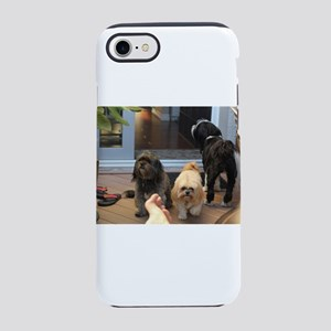 3 dogs and foot Lhasa andTibet iPhone 7 Tough Case