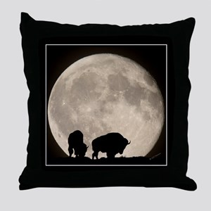 Moonwatch Bison Throw Pillow
