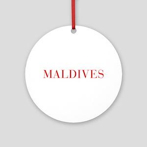 Maldives-Bau red 400 Ornament (Round)