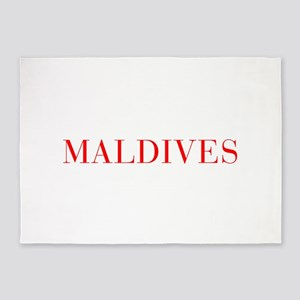 Maldives-Bau red 400 5'x7'Area Rug