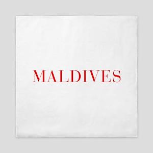 Maldives-Bau red 400 Queen Duvet