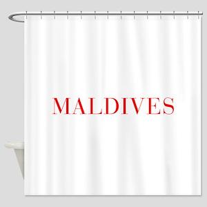 Maldives-Bau red 400 Shower Curtain