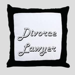 Divorce Lawyer Classic Job Design Throw Pillow