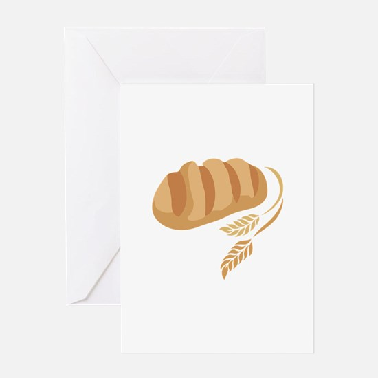 BREAD AND WHEAT Greeting Cards