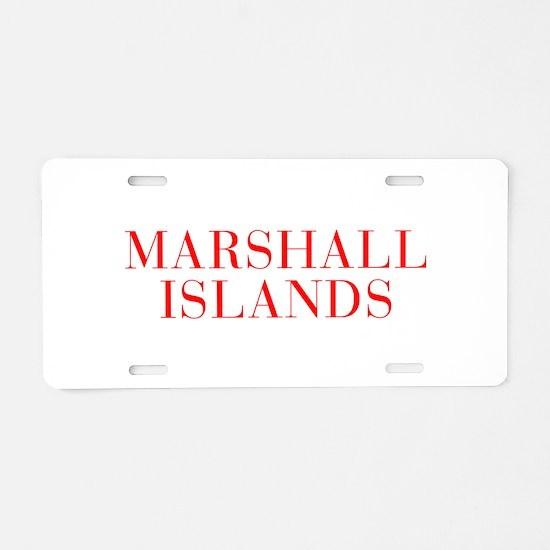 Marshall Islands-Bau red 400 Aluminum License Plat