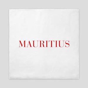 Mauritius-Bau red 400 Queen Duvet