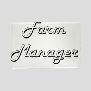 Farm Manager Classic Job Design Magnets