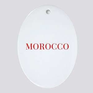 Morocco-Bau red 400 Ornament (Oval)