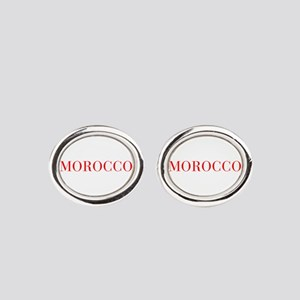 Morocco-Bau red 400 Oval Cufflinks