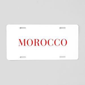 Morocco-Bau red 400 Aluminum License Plate