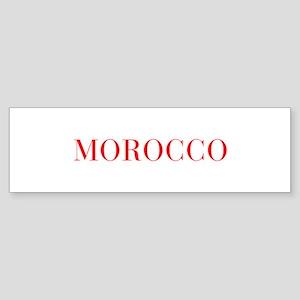 Morocco-Bau red 400 Bumper Sticker