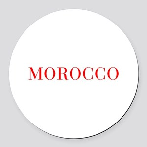 Morocco-Bau red 400 Round Car Magnet