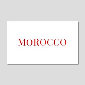 Morocco-Bau red 400 Car Magnet 20 x 12