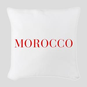 Morocco-Bau red 400 Woven Throw Pillow