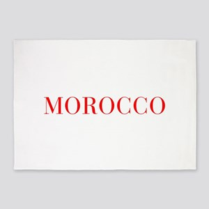 Morocco-Bau red 400 5'x7'Area Rug