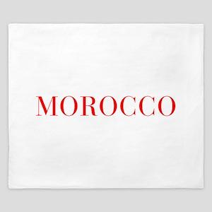 Morocco-Bau red 400 King Duvet