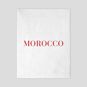 Morocco-Bau red 400 Twin Duvet