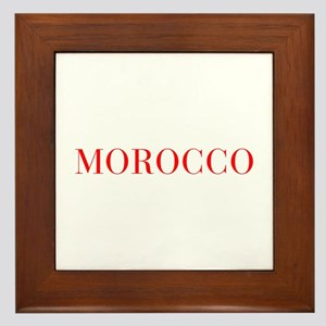 Morocco-Bau red 400 Framed Tile