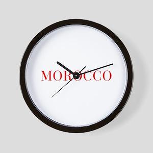 Morocco-Bau red 400 Wall Clock