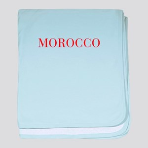 Morocco-Bau red 400 baby blanket