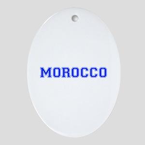 Morocco-Var blue 400 Ornament (Oval)