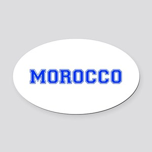 Morocco-Var blue 400 Oval Car Magnet