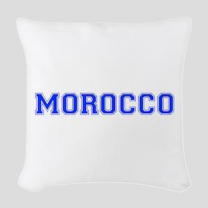 Morocco-Var blue 400 Woven Throw Pillow
