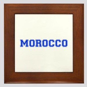 Morocco-Var blue 400 Framed Tile