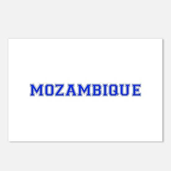 Mozambique-Var blue 400 Postcards (Package of 8)