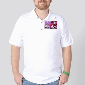 Sweet peas flowers in bloom Golf Shirt