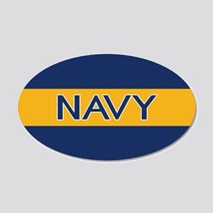 U.S. Navy: Navy (Gold Stripe 20x12 Oval Wall Decal