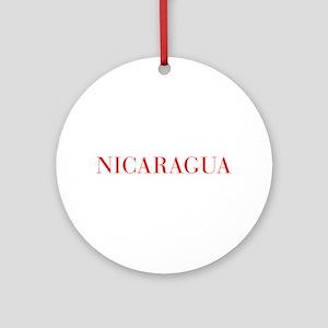 Nicaragua-Bau red 400 Ornament (Round)