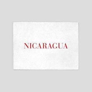Nicaragua-Bau red 400 5'x7'Area Rug